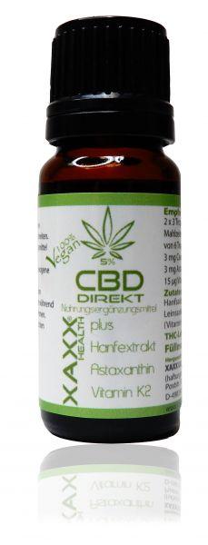 CBD DIREKT- CBD ÖL + Astaxanthin & Vitamin K2